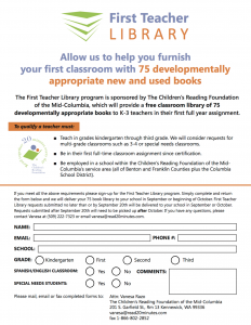 First Teacher Library Application Form